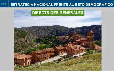 DIRECTRICES GENERALES DE LA ESTRATEGIA NACIONAL FRENTE AL RETO DEMOGRÁFICO