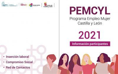 """PROGRAMA EMPLEO MUJER CASTILLA Y LEÓN """"PEMCYL 2021"""""""